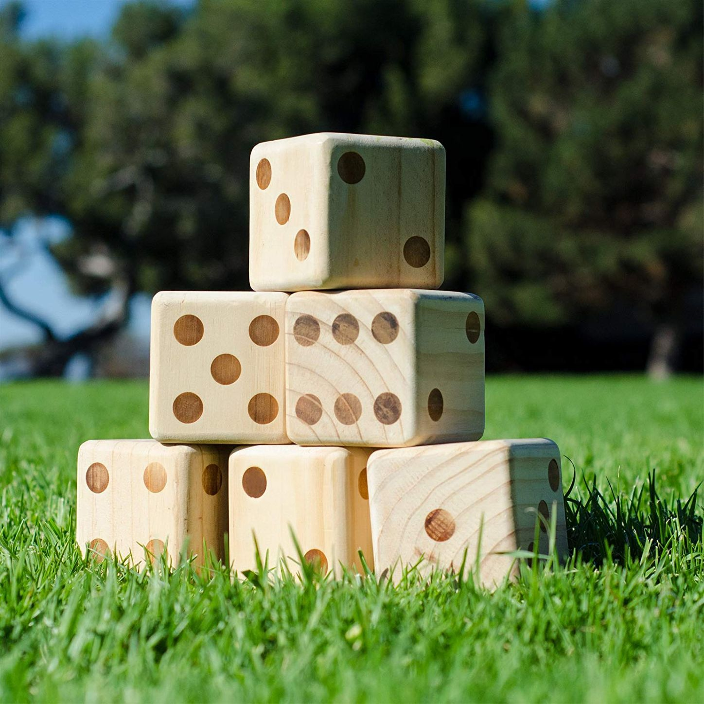 GoSports Giant Wooden Playing Dice Set