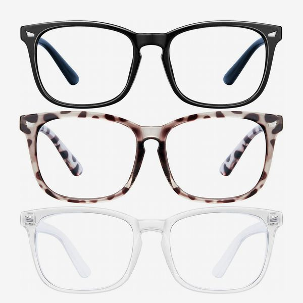 LNEKEI Blue Light Blocking Glasses 3Pack