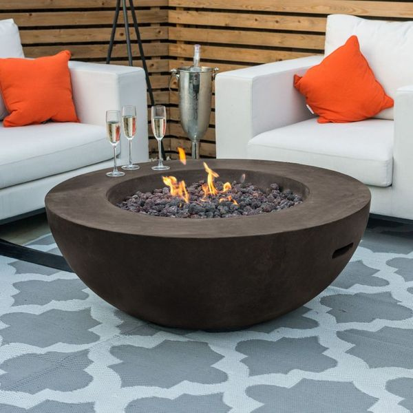 Fireglow Brisbane Round Gas Fire Bowl