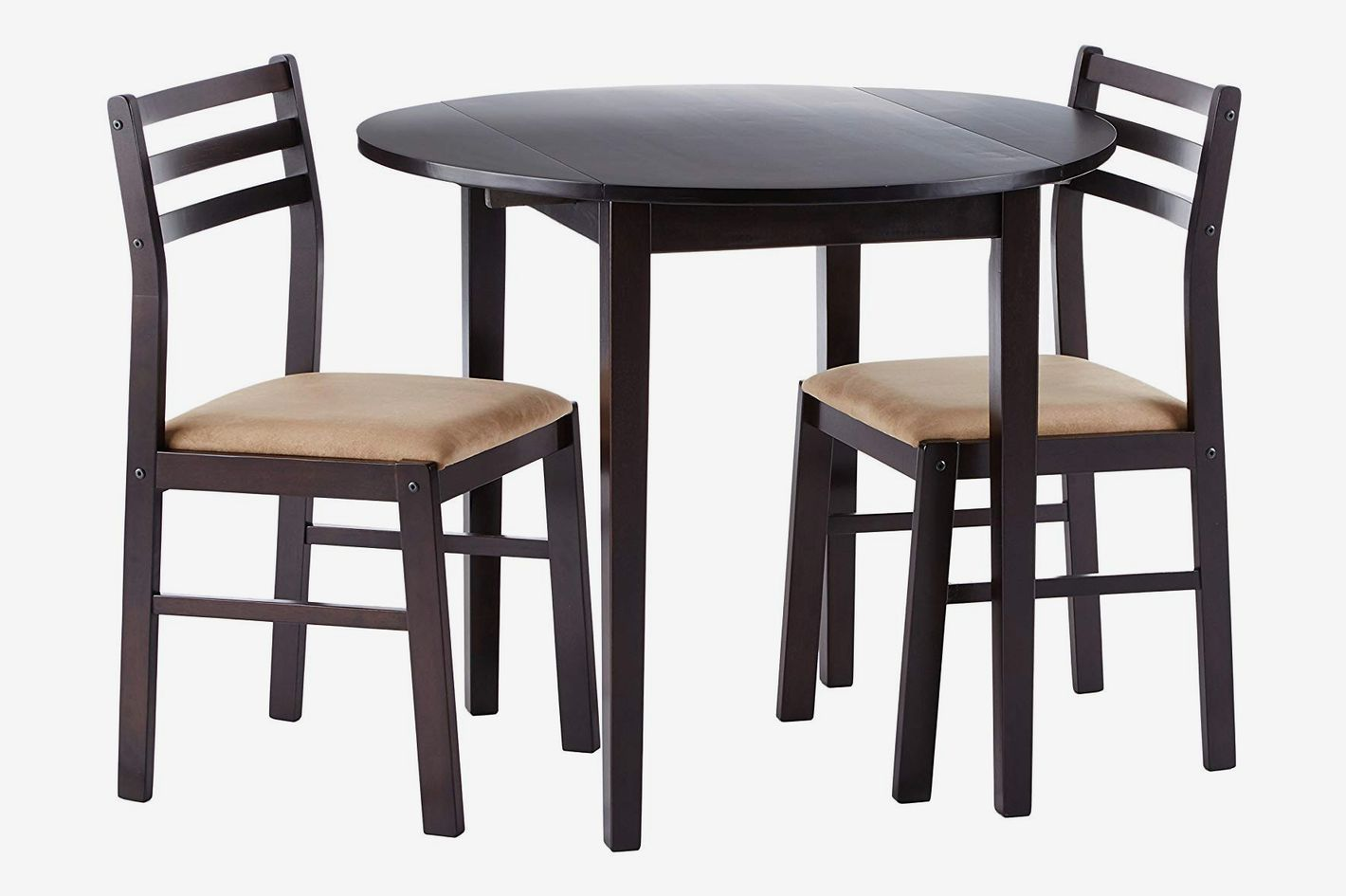 Coaster Home Furnishings 3-piece Dining Set with Drop Leaf, Cappuccino and Tan