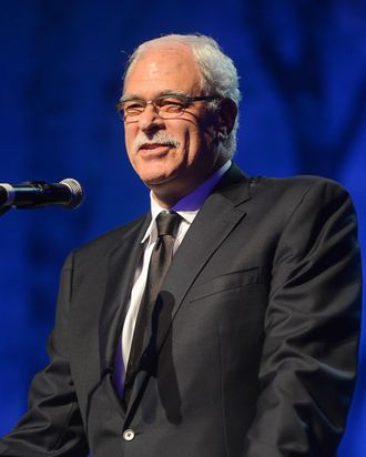 Former NBA coach and player Phil Jackson speaks at the Children's Hospital Los Angeles Gala: Noche de Ninos at L.A. Live Event Deck on October 20, 2012 at L.A. Live Event Deck on October 20, 2012 in Los Angeles, California.