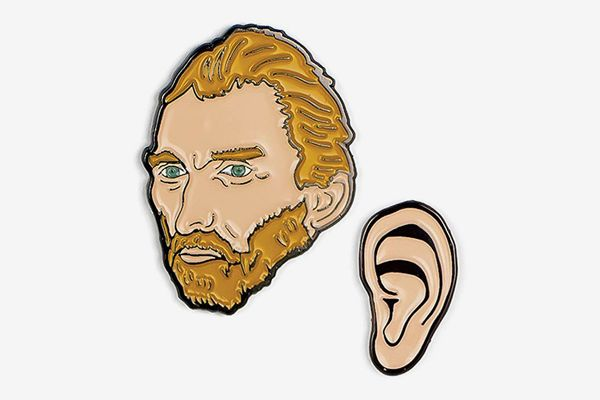The Unemployed Philosophers Guild Van Gogh and Ear Enamel Pin Set