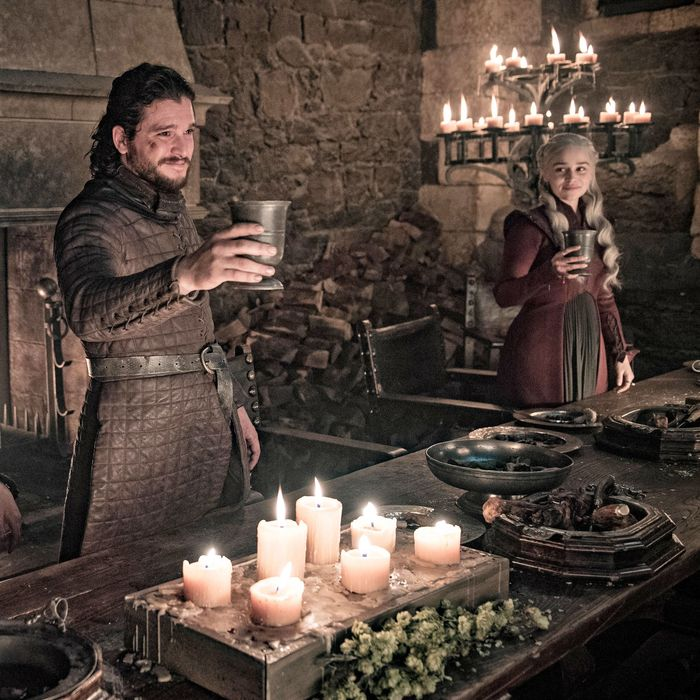 Tormund, Jon Snow, and Dany.