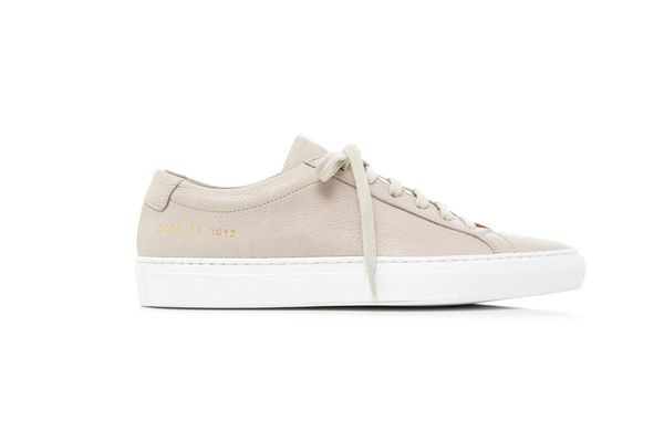 Common Projects Original Achilles Low Leather Sneakers, Grey