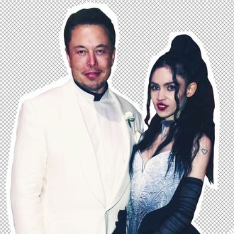 Elon Musk and Grimes at the Met Gala.