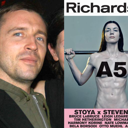 Richardson with the cover of his new issue.