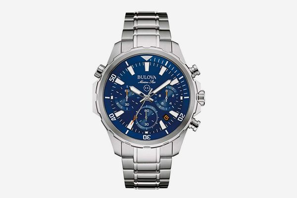 Bulova Men's 43mm Marine Star Stainless Steel Chronograph Watch