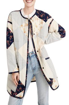 Madewell x The New Denim Project Patchwork Cocoon Coat