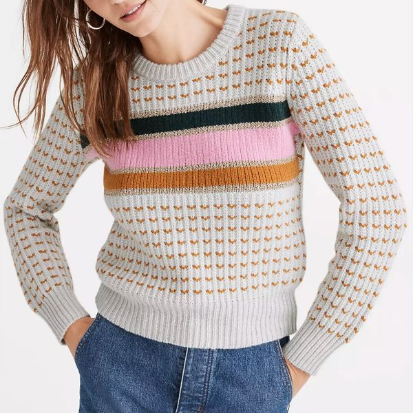 Madewell Striped Barfield Sweater