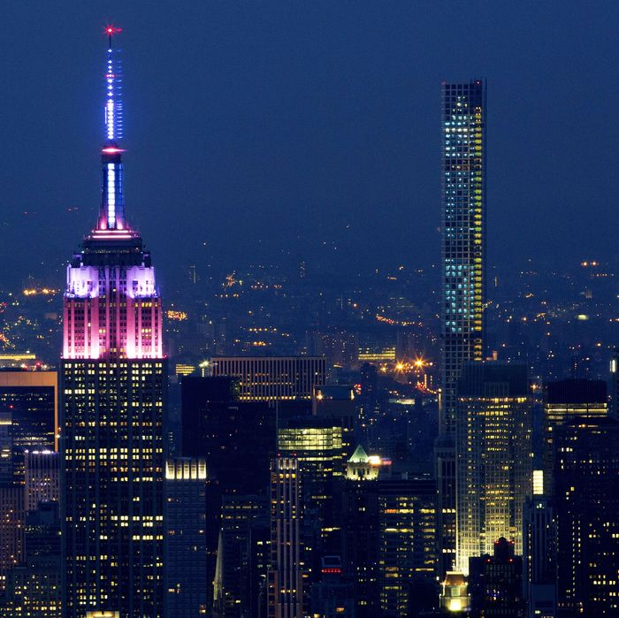 The luxury 432 Park Avenue building is on the far right.
