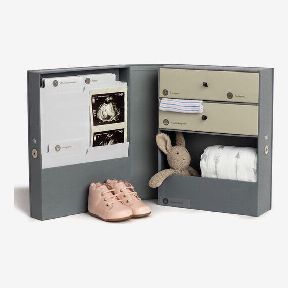 Savor Vault Baby Keepsake Box, Slate
