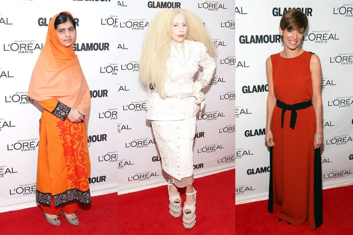 Malala, Lady Gaga, and Cindi Leive.