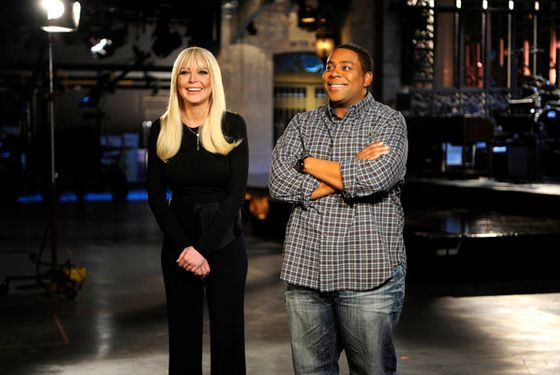 "SATURDAY NIGHT LIVE -- ""Lindsay Lohan"" Episode 1614 -- Pictured: (l-r) Lindsay Lohan, Kenan Thompson -- (Photo by: Dana Edelson/NBC)"