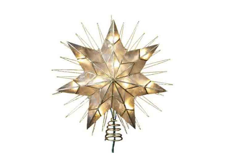 best oversize star christmas tree topper kurt adler 14 7 point natural capiz star lighted treetop