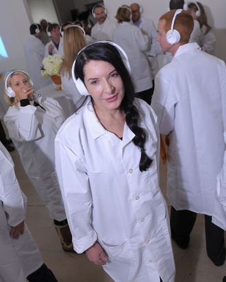 Artist Marina Abramovic attends the The Artist is Present
