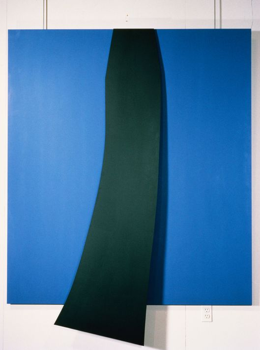Black and Blue Sculpture by Ellsworth Kelly