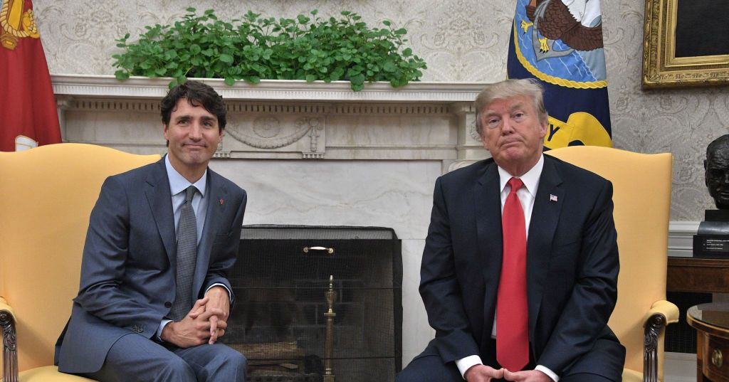 Watch Justin Trudeau Appear to Make Fun of President Trump