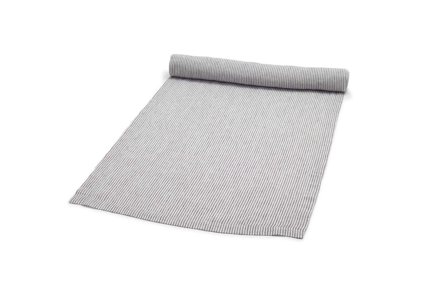 Sur La Table Pinstripe Linen Table Runner