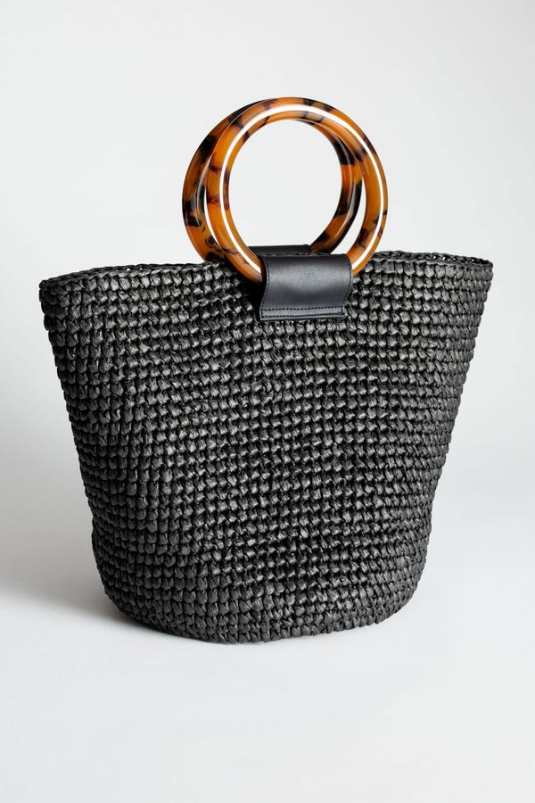 Woven Straw Tote Bag