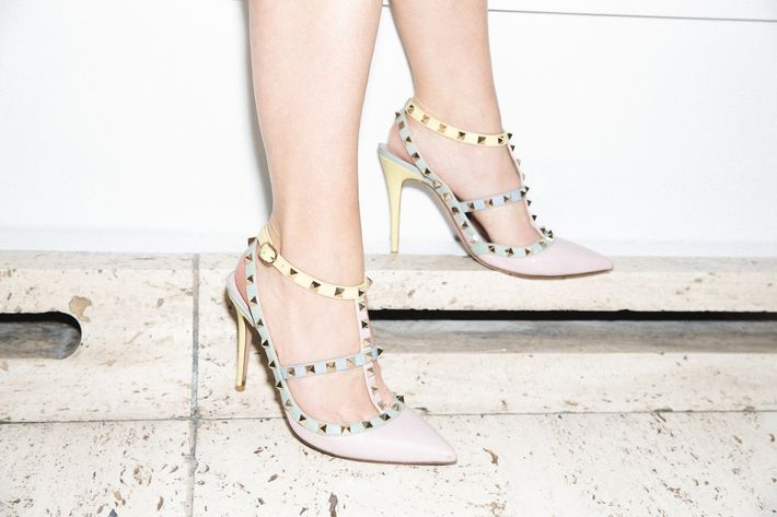 8c252f500fa7 Sarah Hoover wears her own Valentino shoes. Photo  Photo by Victoria Stevens