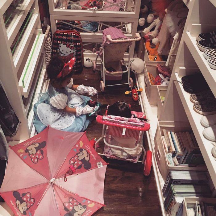 North West in her closet.