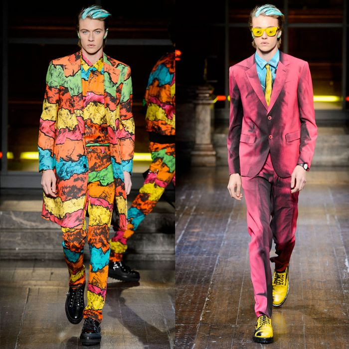 The models' hair and ears were slicked with colored paint, like they'd walked straight off the pages of a comic book.