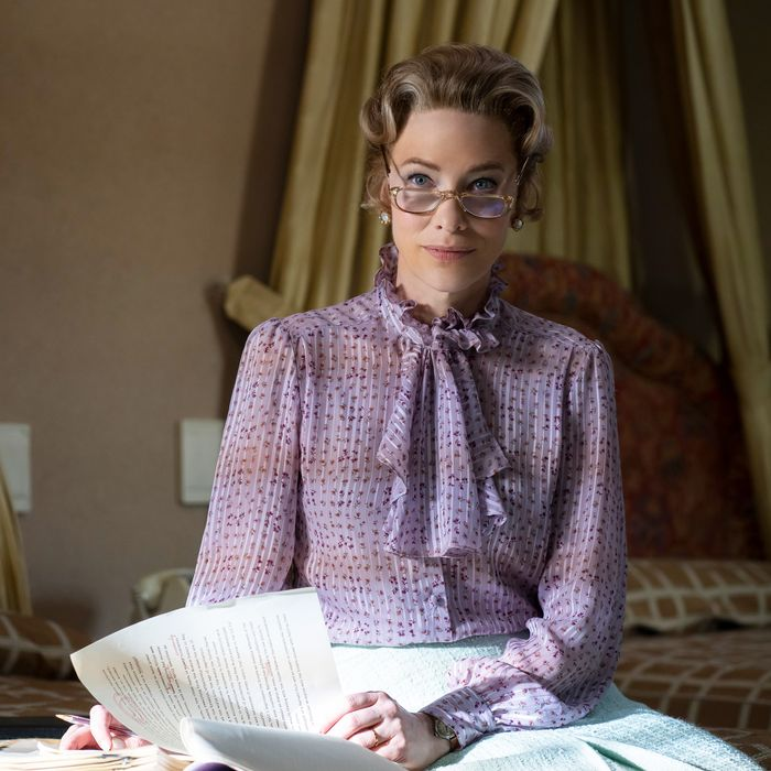 Cate Blanchett in Mrs. America.