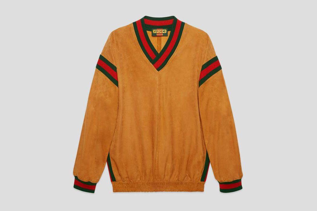 Gucci Suede Sweatshirt