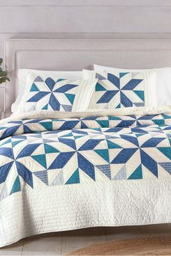 Martha Stewart Collection Sawtooth Star Artisan Full/Queen Quilt