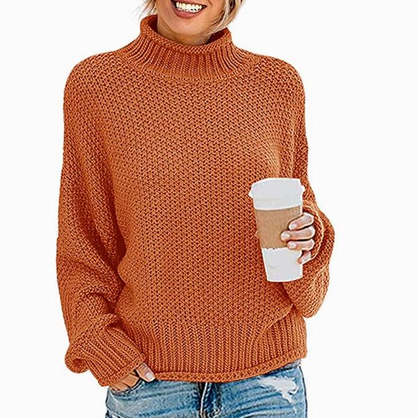 Zesica Oversized Knitted Turtleneck Sweater