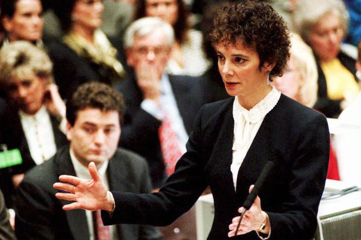 Prosecutor Marcia Clark At O.J. Simpson Trial