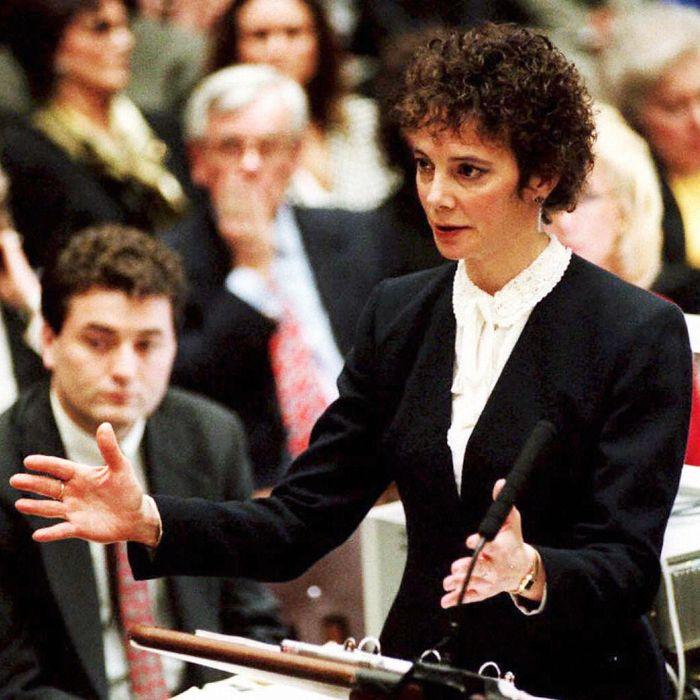 Prosecutor Marcia Clark At O.J. Simpson Trial