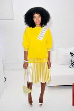 Solange Knowles attends the Q&Q Launch Event at Open House Gallery on April 24, 2014 in New York City.