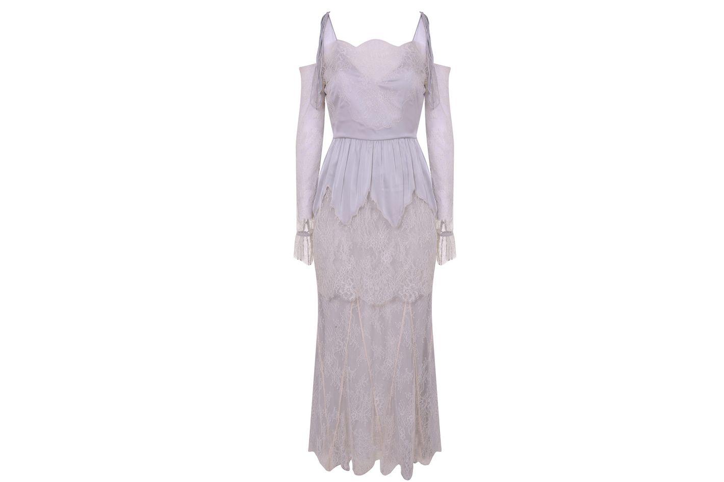 Cutwork Lace Bardot Bridal Dress