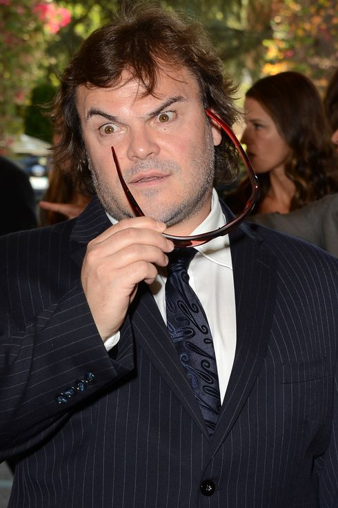 Actor Jack Black arrives at the Hollywood Foreign Press Association's 2012 Installation Luncheon held at the Beverly Hills Hotel on August 9, 2012 in Beverly Hills, California.
