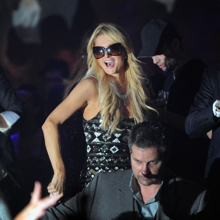 Hilton attends the 1 OAK Las Vegas Nightclub Grand Opening at the Mirage Hotel & Casino on January 27, 2012.