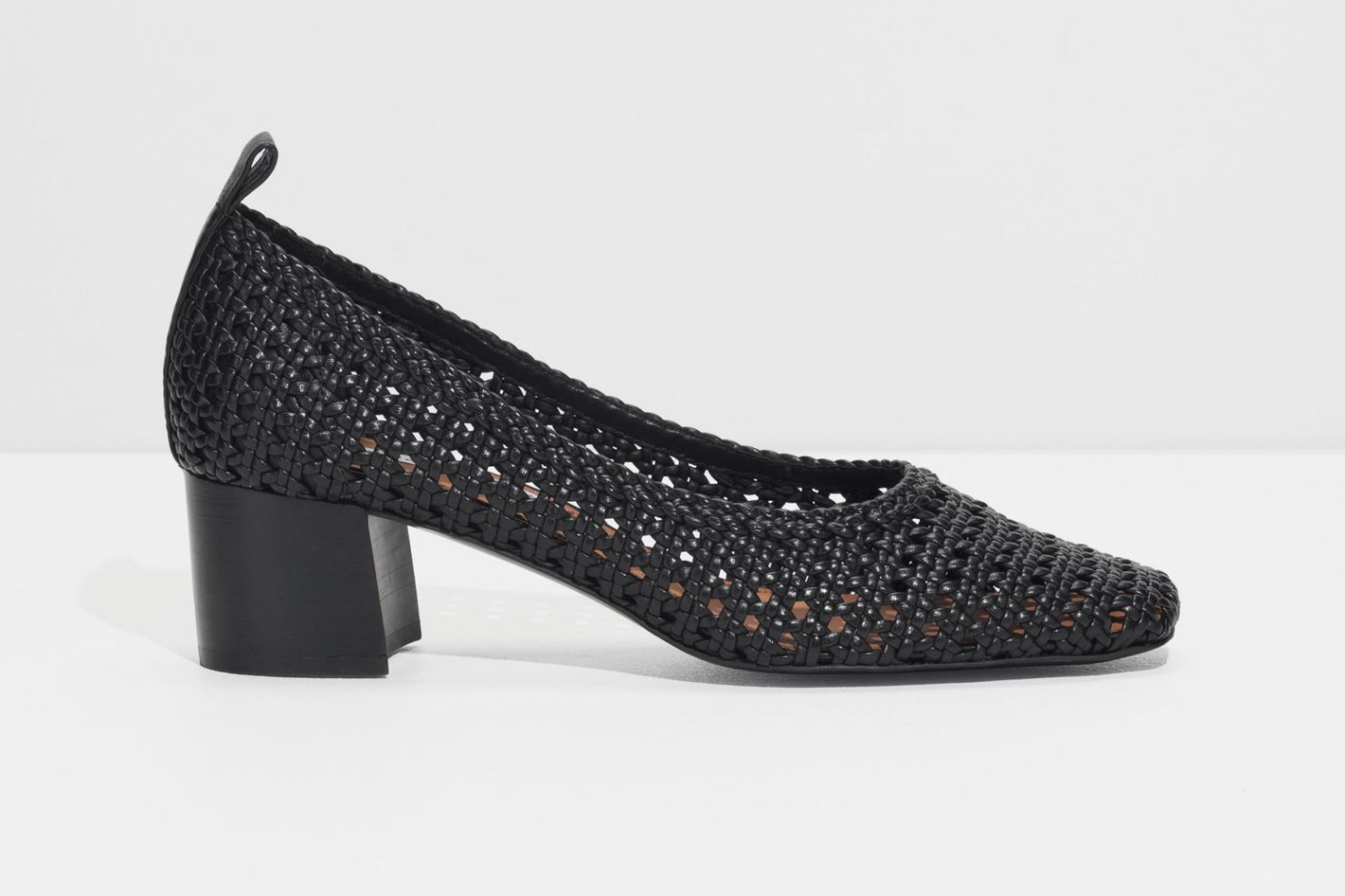 & Other Stories Square Toe Woven Heels