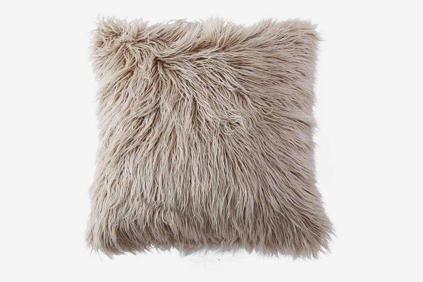 OJIA Deluxe Home Decorative Super Soft Plush Mongolian Faux Fur Throw Pillow Cover