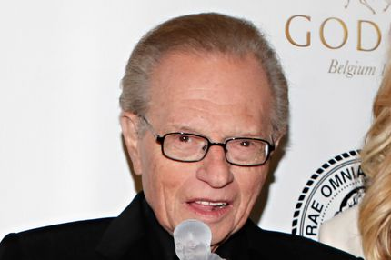 NEW YORK, NY - NOVEMBER 14:  TV personality Larry King honored at the 2011 Friars Club Testimonial dinner gala at the Sheraton New York Hotel & Towers on November 14, 2011 in New York City.  (Photo by Cindy Ord/Getty Images)