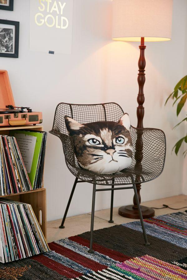 Plum & Bow Cat Pillow