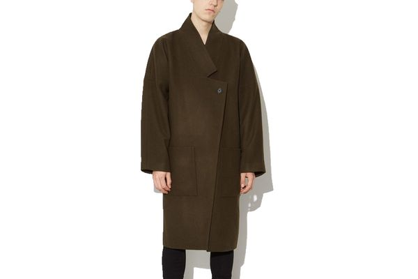Oak Dropped Label Coat