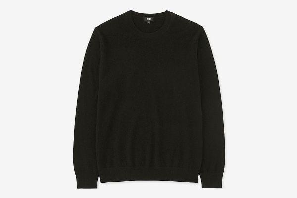 Men's Cashmere Crew Neck Long Sleeve Sweater
