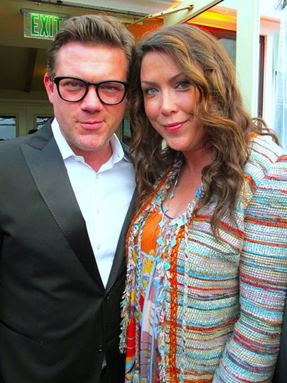 Celebrity chef Tyler Florence and wife Tolan were in attendance.