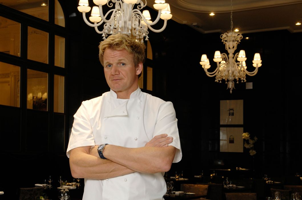 Chef Gordon Ramsey at his restaurant La Veranda in the Versailles Trianon Palace hotel in France.