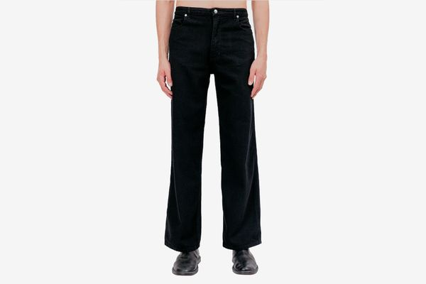 Eckhaus Latta's Wide Leg Jeans, Almost Black
