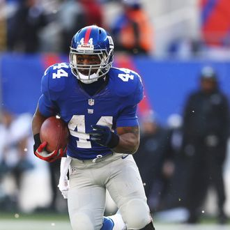 hmad Bradshaw #44 of the New York Giants in action during their game against the Philadelphia Eagles at MetLife Stadium on December 30, 2012 in East Rutherford, New Jersey.