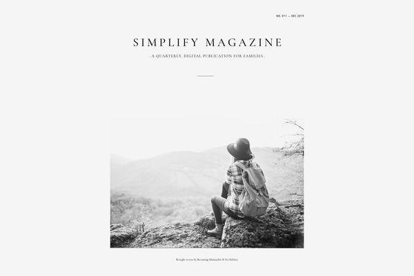 'Simplify Magazine' Lifetime Subscription