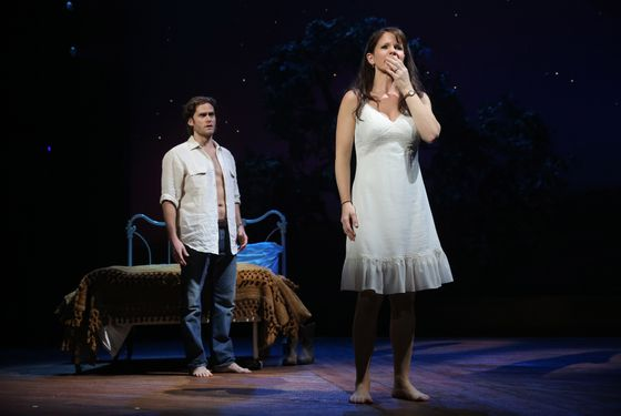 The Bridges of Madison County Gerald Schoenfeld Theatre  Cast List: Kelli O'Hara Steven Pasquale Hunter Foster Michael X. Martin Cass Morgan Caitlin Kinnunen Derek Klena Whitney Bashor Ephie Aardema Jennifer Allen Charlie Franklin Kevin Kern Katie Klaus Luke Marinkovich Aaron Ramey Dan Sharkey Jessica Vosk Tim Wright  Production Credits: Bartlett Sher (Direction) Michael Yeargan (Scenic Design) Catherine Zuber (Costume Design) Donald Holder (Lighting Design) Jon Weston (Sound Design) Danny Mefford (Movement) Tom Murray (Music Director) Jason Robert Brown (Orchestrations) Michael Keller (Music Contractor)  Other Credits: Lyrics by: Jason Robert Brown Music by: Jason Robert Bro