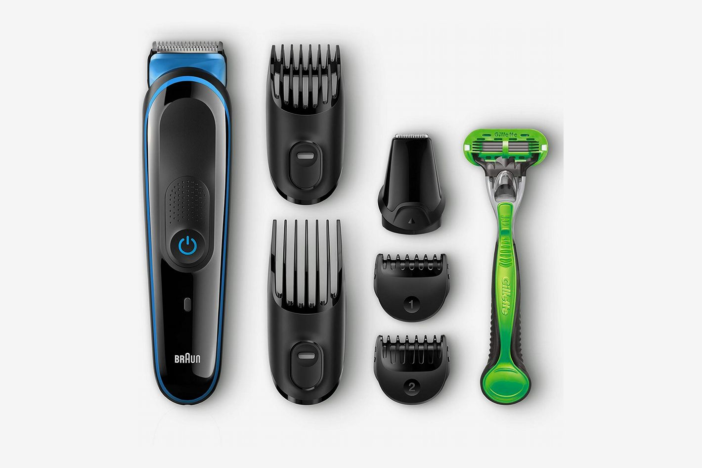 Braun MGK3040 Men's Beard Trimmer for Hair Trimming with 4 Combs & Gillette Body Razor