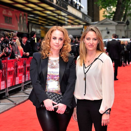 LONDON, ENGLAND - JUNE 13:  Jamie Denbo and Jessica Chaffin attends the gala screening of 'The Heat' at The Curzon Mayfair on June 13, 2013 in London, England.  (Photo by Gareth Cattermole/Getty Images)